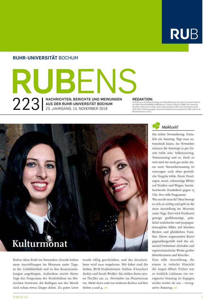 Cover der Rubens 223 mit zwei Studentinnen als Titel