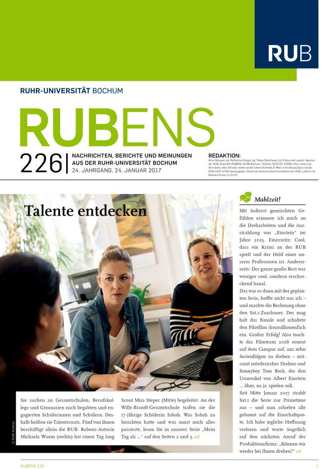 Cover der Rubens 226 mit drei Frauen, die um einen Tisch herum sitzen