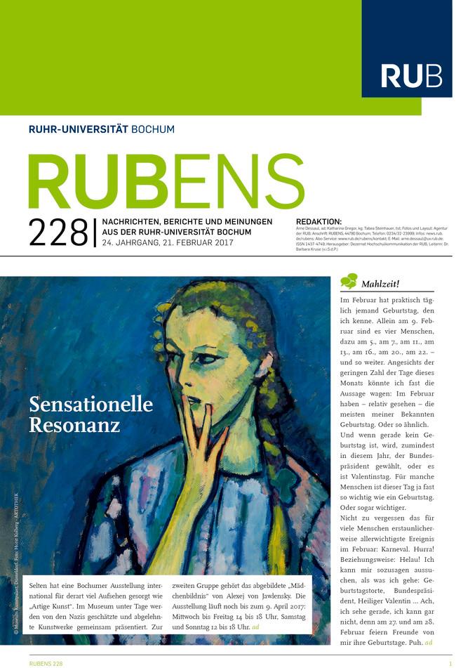 Cover der Rubens 228 mit einem Gemälde