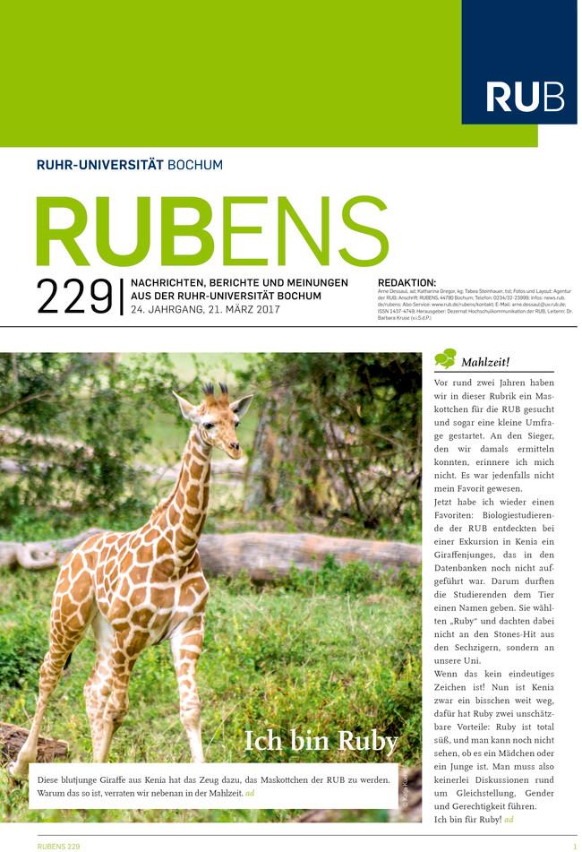 Cover der Rubens 229 mit einer Giraffe