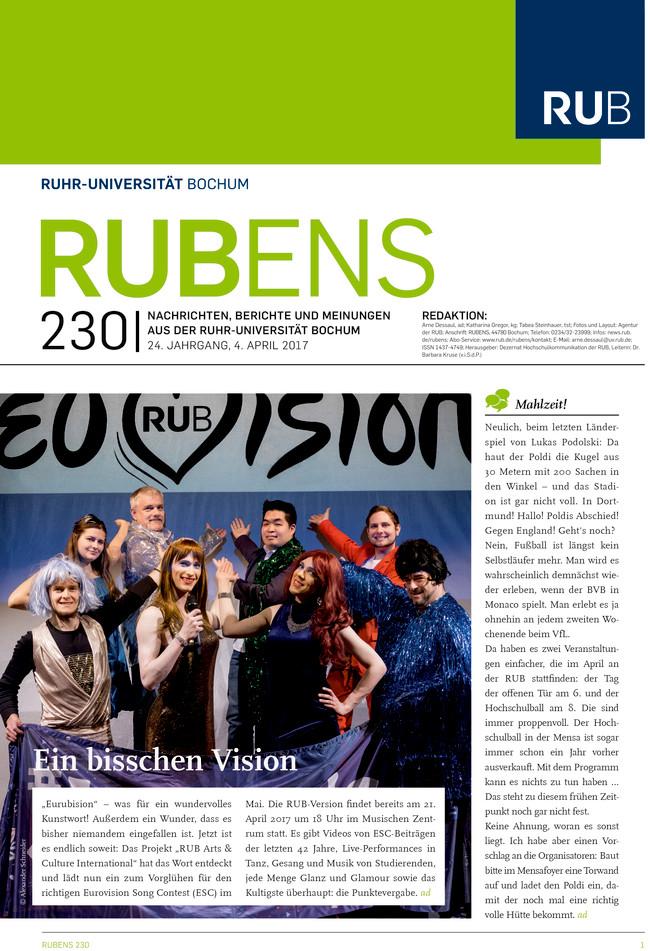 Cover der Rubens 230 mit einem Gruppenbild