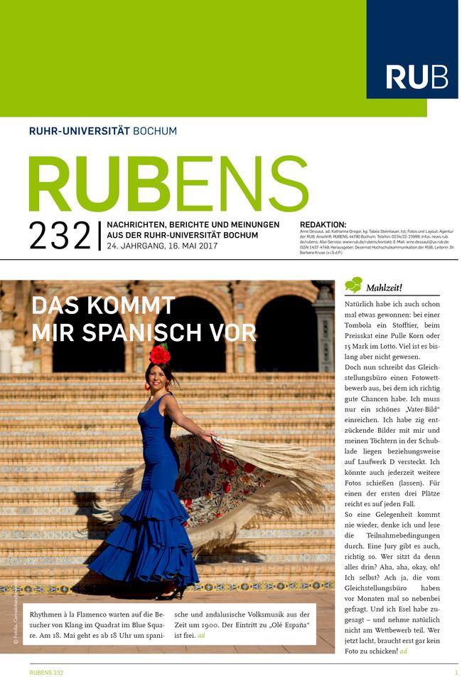 Cover der Rubens 232 mit Tänzerin