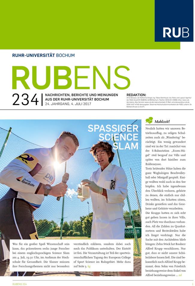 Cover der Rubens 234 mit zwei Sportlern