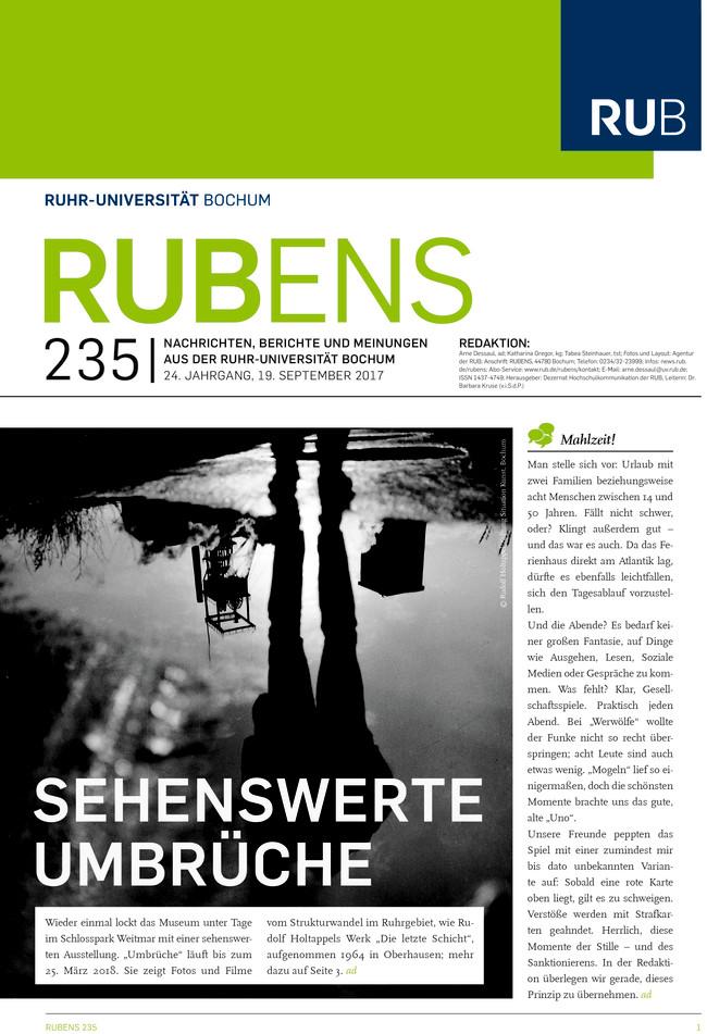 Cover der Rubens 235 mit Schwarzweißfoto