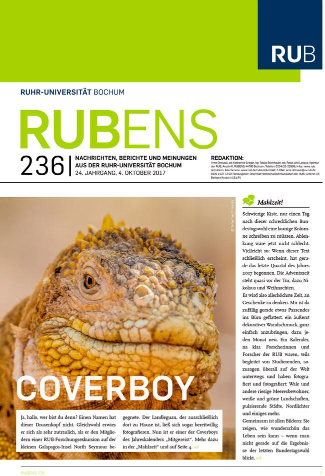 Cover der Rubens 236 mit Leguan