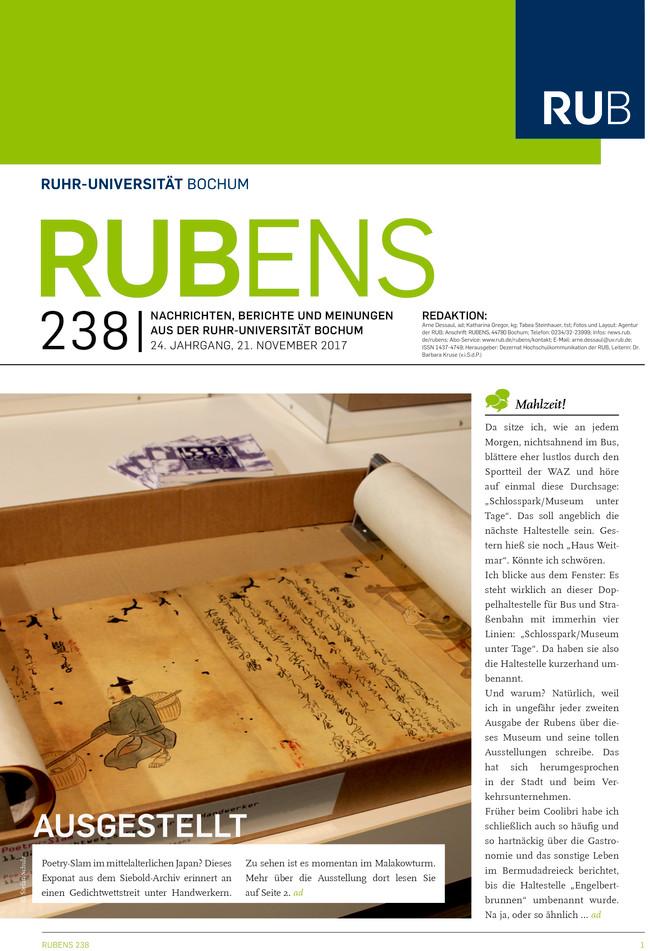Cover der Rubens 238 mit japanischer Kalligraphie
