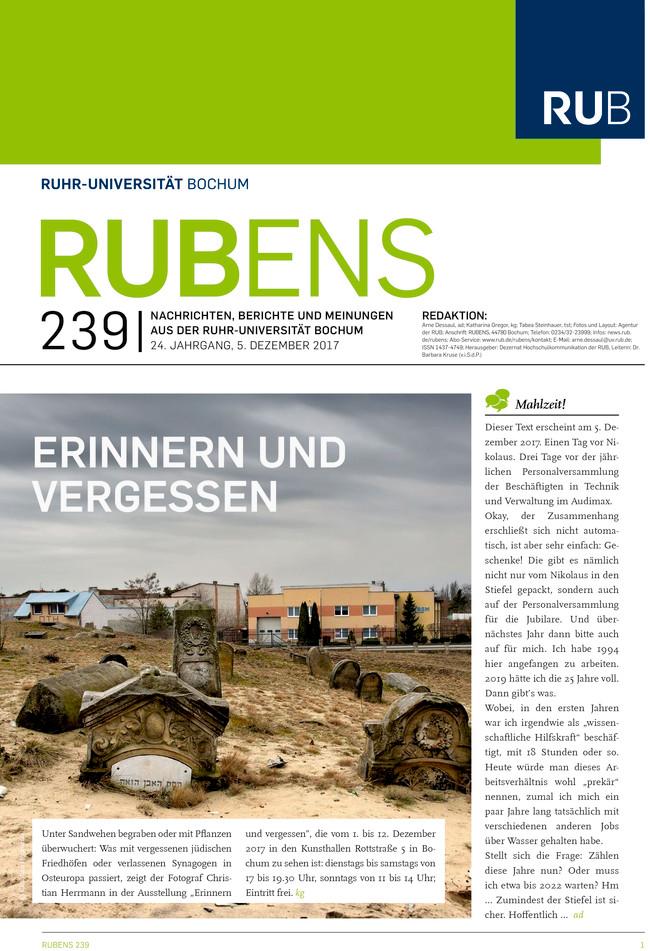 Cover der Rubens 239 mit Friedhofsfoto