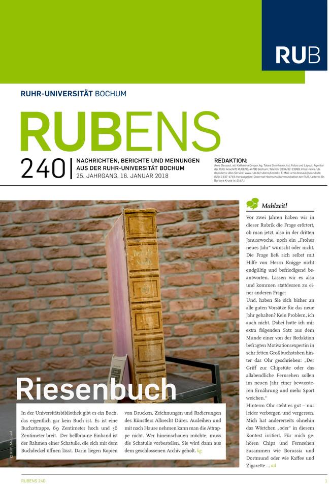 Cover der Rubens 240 mit Riesenbuch