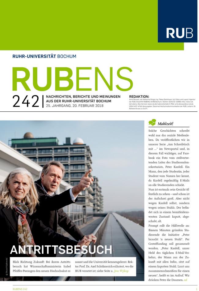 Cover der Rubens 242 mit Frau und Mann an einer Brüstung