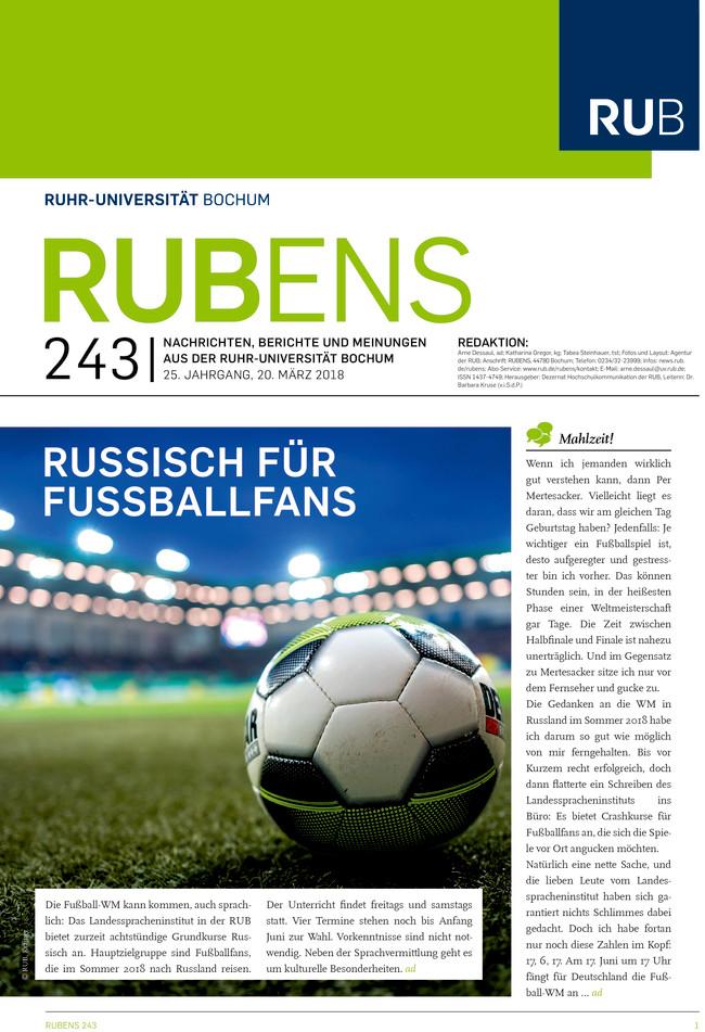 Cover der Rubens 243 mit Fußball
