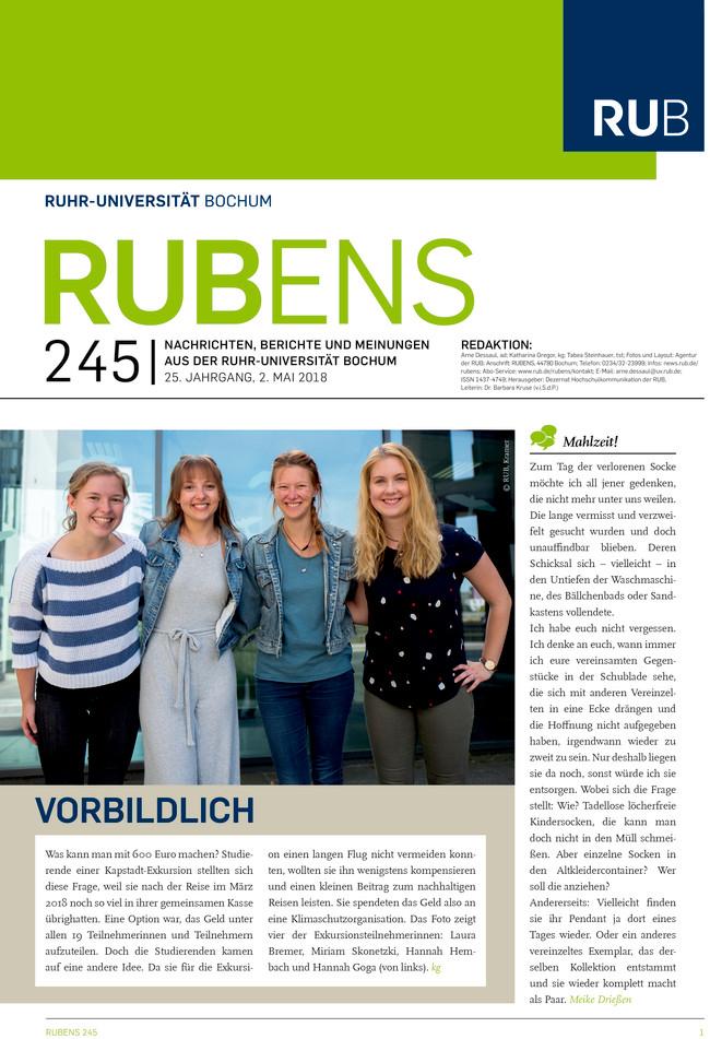 Cover der Rubens 245 mit Gruppenbild