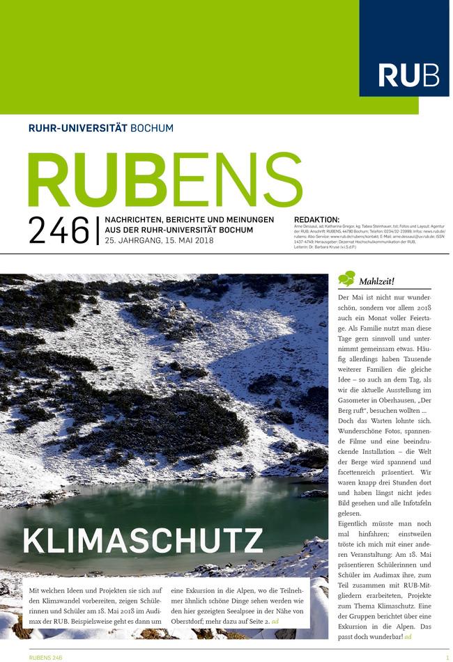 Cover der Rubens 245 mit Gebirgssee