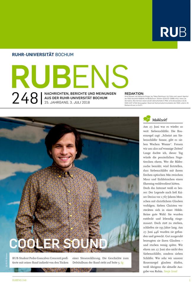 Cover der Rubens 248 mit Porträt eines Studenten