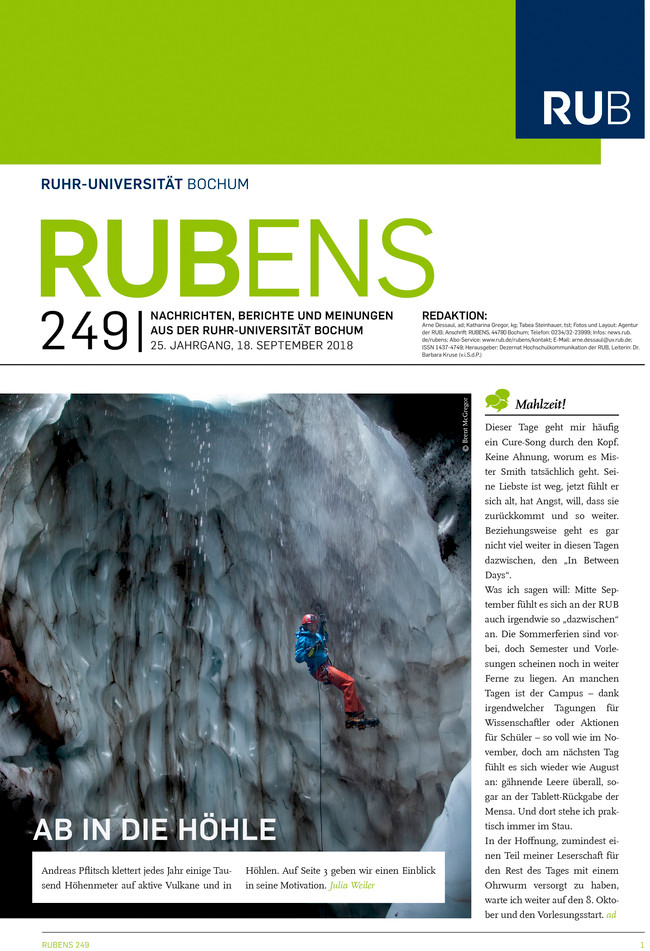 Cover der Rubens 249 mit einem Höhlenforscher