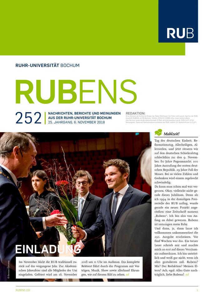 Cover der Rubens 252 mit Preisübergabe