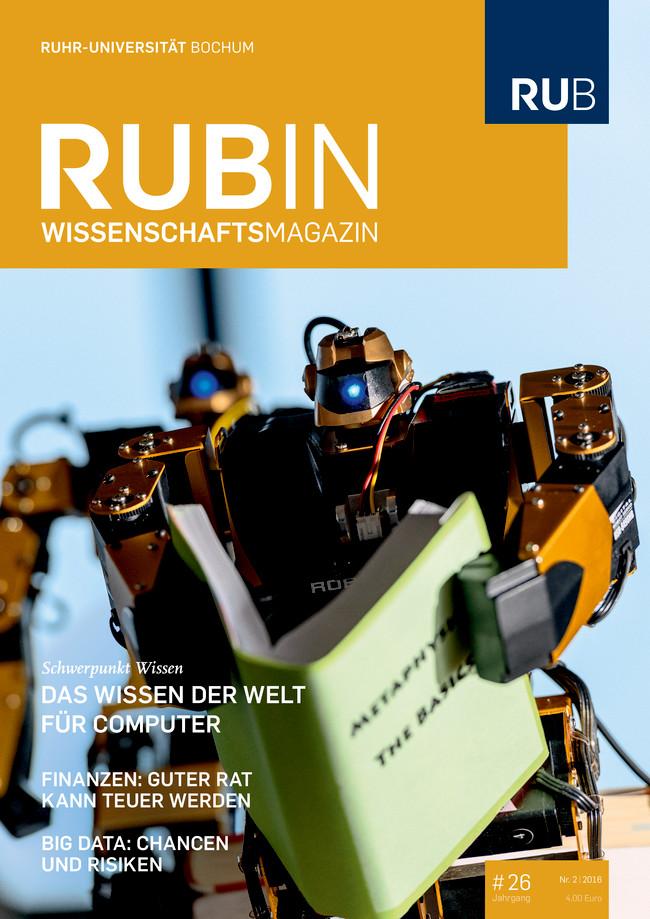 Titelseite der Zeitschrift Rubin mit einem Bild von zwei Robotern.