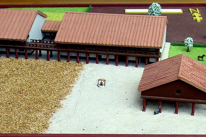 Modell des Landgasthofs in Ficarolo