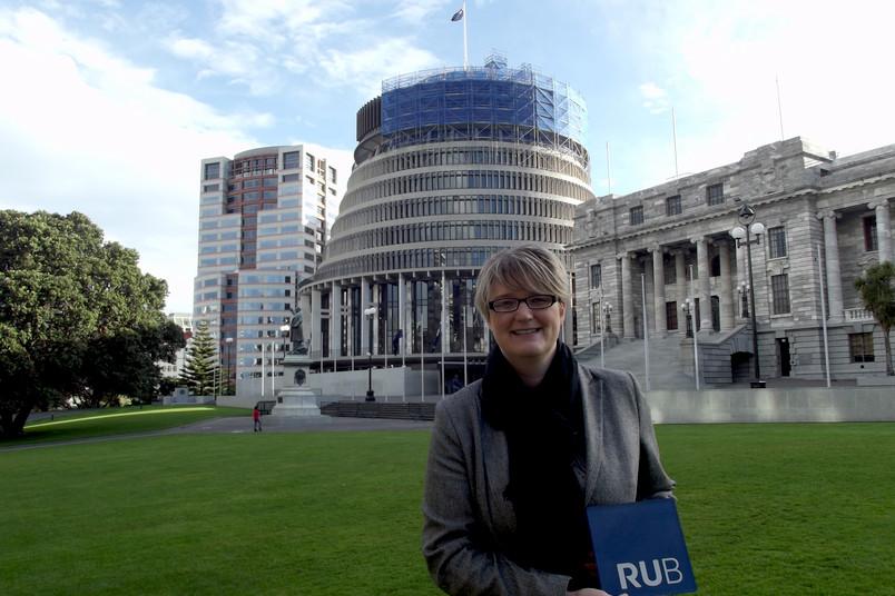 Das Beehive in Wellington ist das Regierungsgebäude, in dem Parlament und Premierminister sitzen – für Rebecca Burke ein bedeutsamer Ort ihrer neuen Heimat.