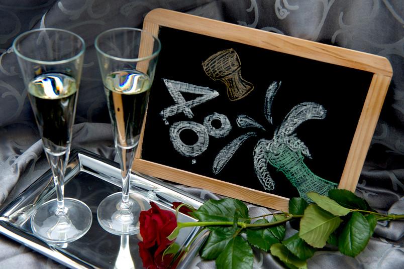 Zu besonderen Anlässen darf es auch mal ein Gläschen Champagner sein.