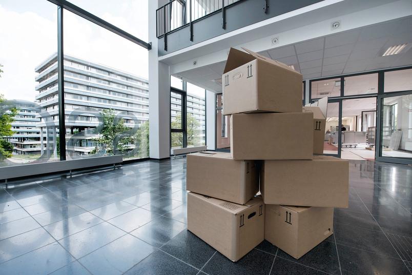 Die Kartons sind gepackt, der Umzug kann starten.
