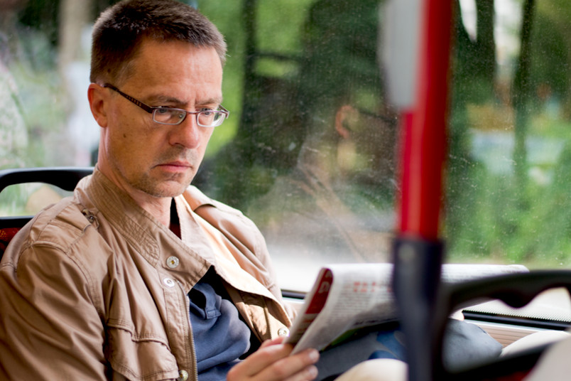 Überzeugter Busfahrer: unser Autor Arne Dessaul
