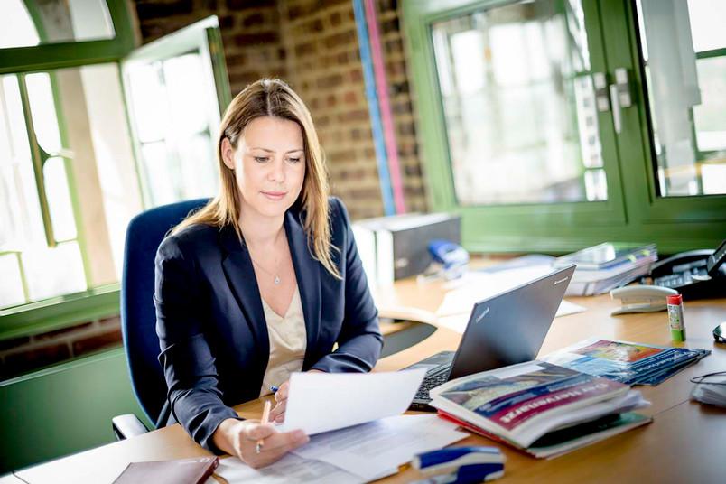 Tanja Henking in ihrem Büro im Malakowturm.