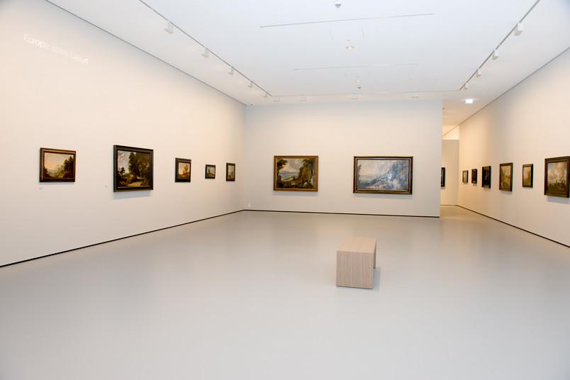 Blick ins Museum unter Tage, hier zu sehen ist die Ausstellung Weltsichten