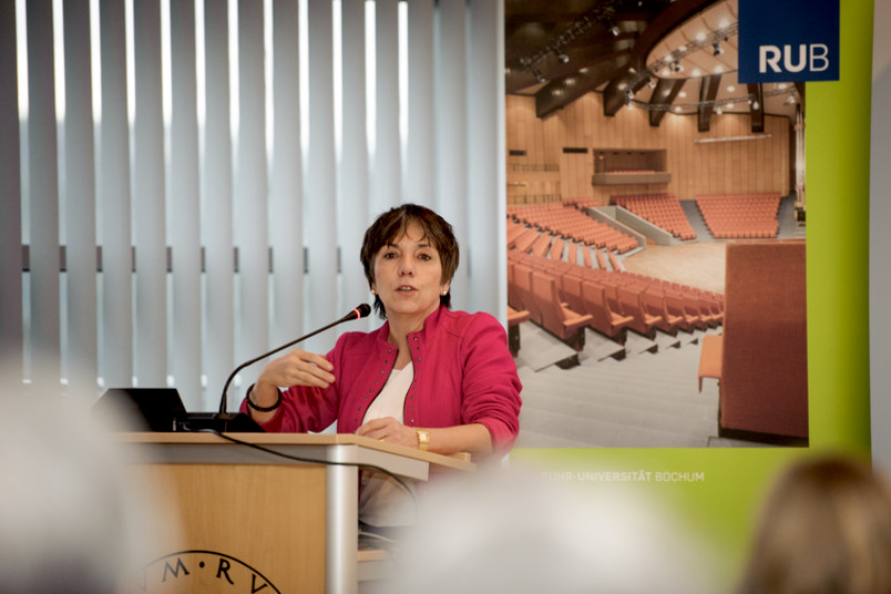 Margot Käßmann bei einem Vortrag an der RUB im Jahr 2015