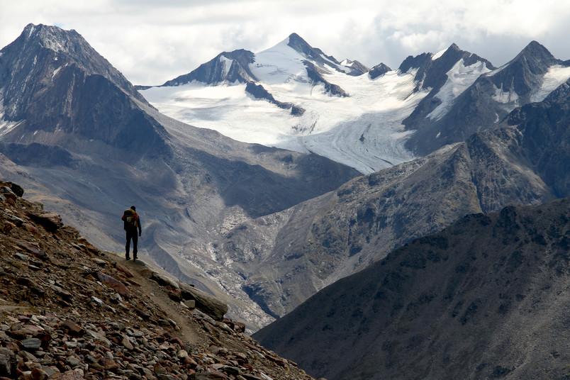 Gebirgslandschaft der Alpen