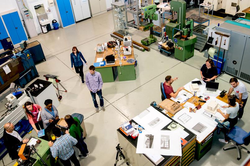 Lernfabrik des Lehrstuhls für Produktionssysteme