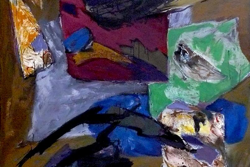 "Hans-Jürgen Schlieker: ""Sommer 68"" (1967/68), Öl auf Leinwand (Ausschnitt)"