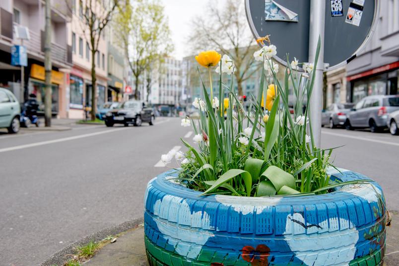 Mit Urban Gardening verschönern die Anwohner ihren Kiez.