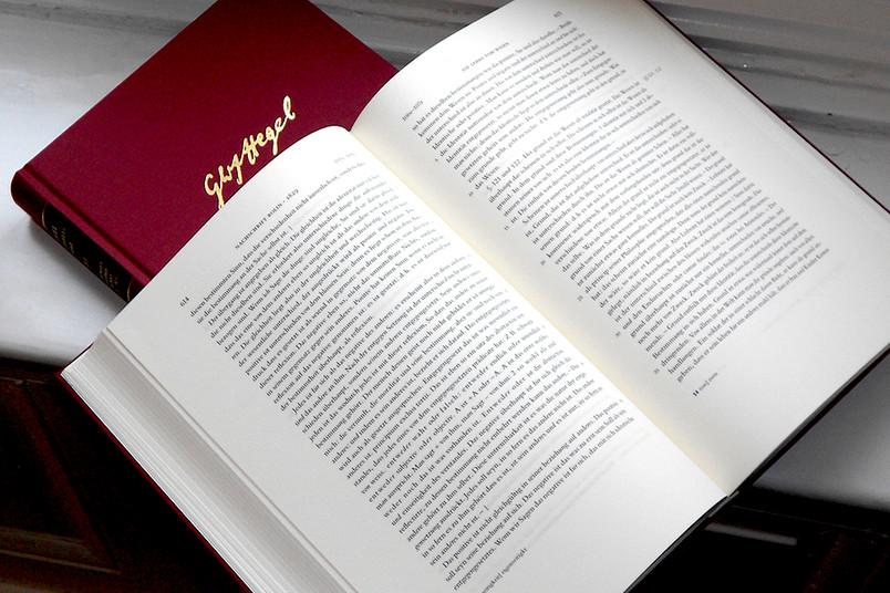 Hegel-Edition - einer von insgesamt 37 Bänden