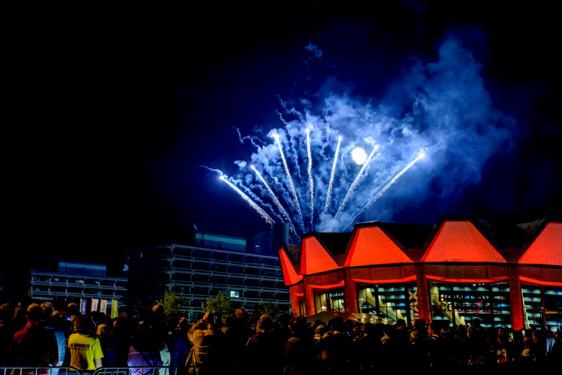 Feuerwerk beim Uni-Sommerfest