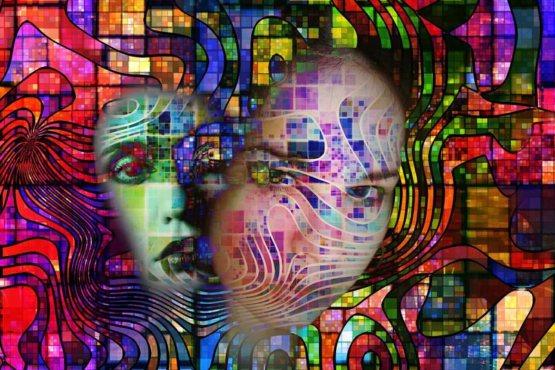 Zu den Symptomen psychotischer Erkrankungen gehören unter anderem Halluzinationen.