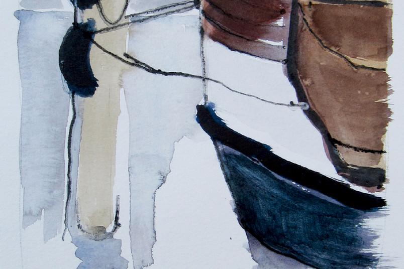 Hafenidylle: Ausschnitt eines Werkes von Karla Christoph