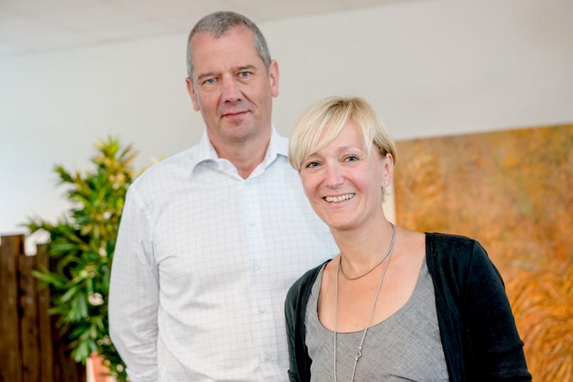 Silvia Schneider und Jürgen Margraf haben das Kunstprojekt am FBZ initiiert.