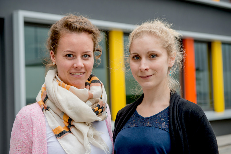 Johanna Rust (links) und Lena Hufnagel waren zusammen in Shanghai.