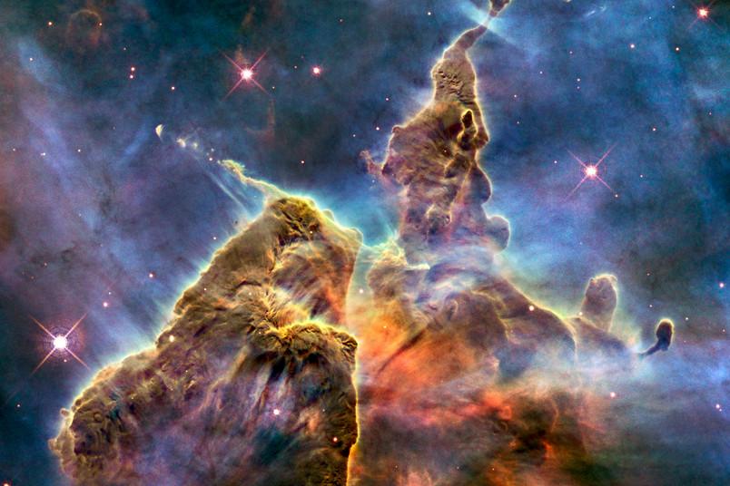 Plasmawolken im Universum.