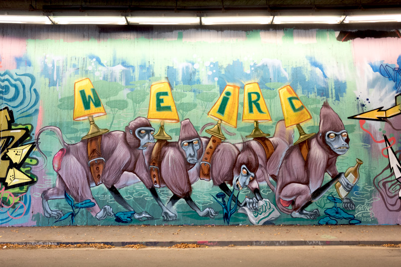 Graffito unter der Universitätsstraße