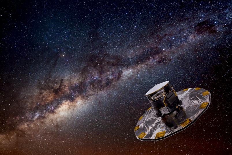 Satellit Gaia unterwegs im All