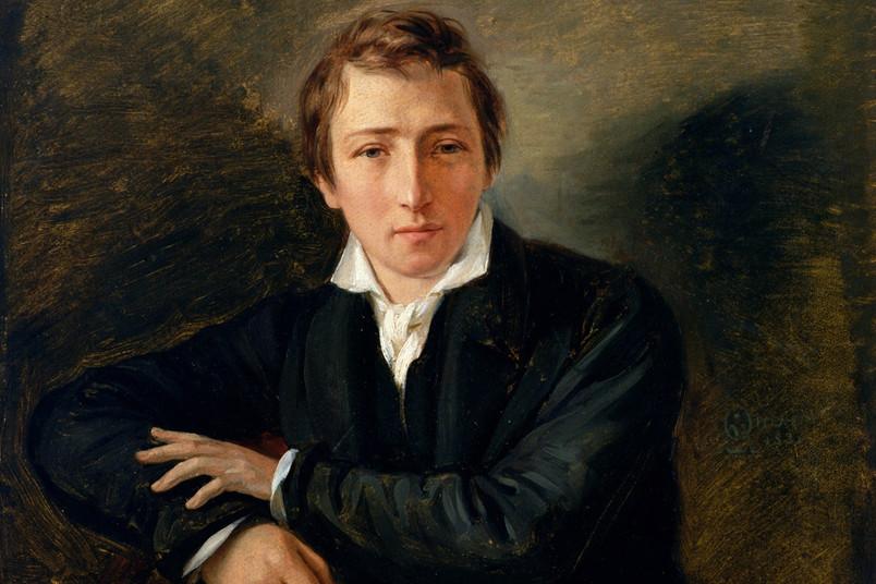 Ölgemälde mit einem Porträt von Heinrich Heine.