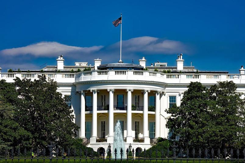 Das Weiße Haus in Washington D.C., USA.