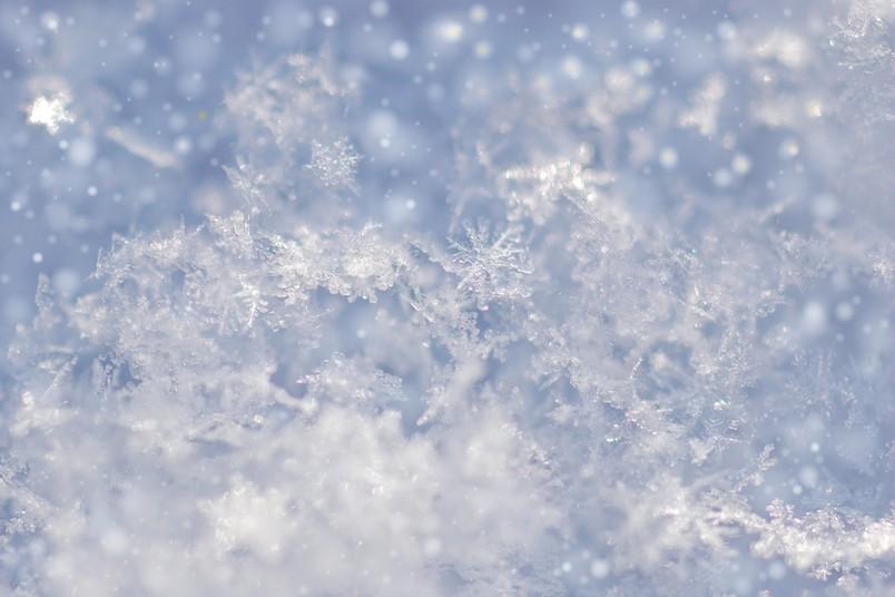 Detailaufnahme von Schnee