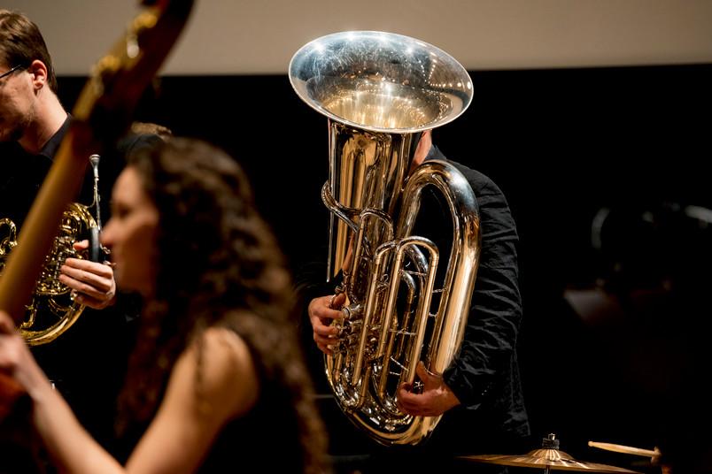 Musiker bei einem Konzert
