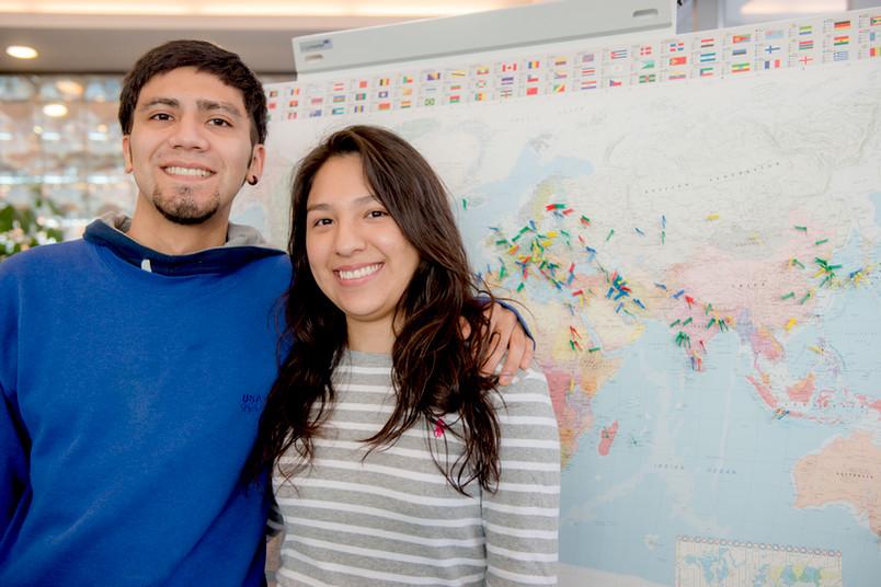 Die Austauschstudierenden Christian und Samantha sind für ein Jahr zu Gast an der RUB.