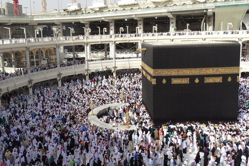 Moslems pilgern zur Kaaba in Mekka