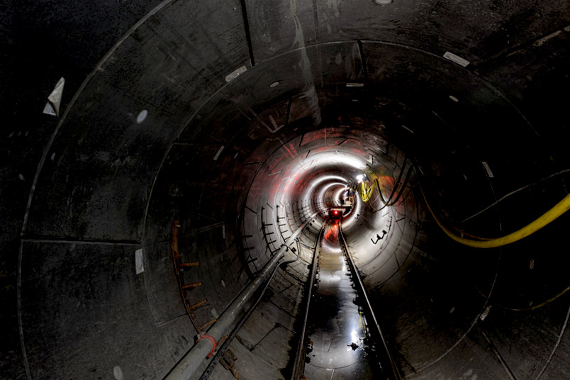 Blick in Tunnelröhre