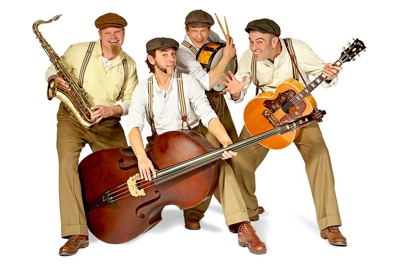 Bandfoto mit vier Musikern