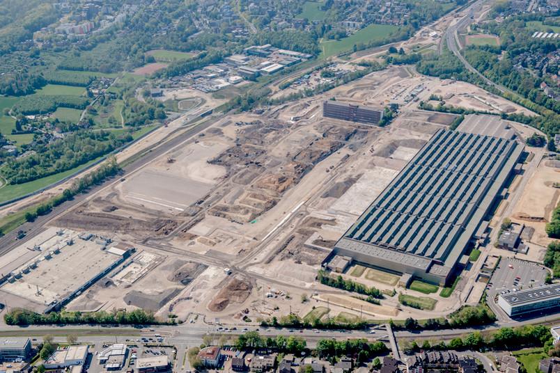 Luftbild des ehemaligen Opel-Geländes in Bochum